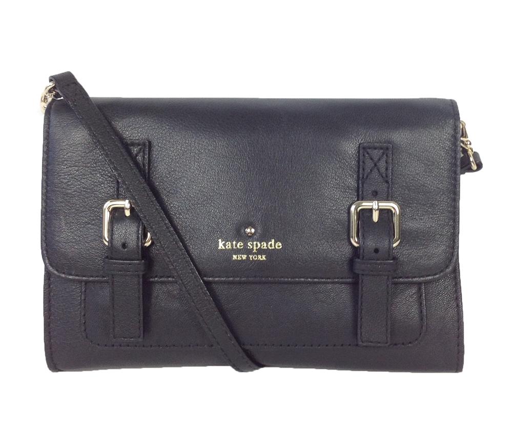 Kate Spade New York Allen Street Neil Leather Crossbody Bag Black