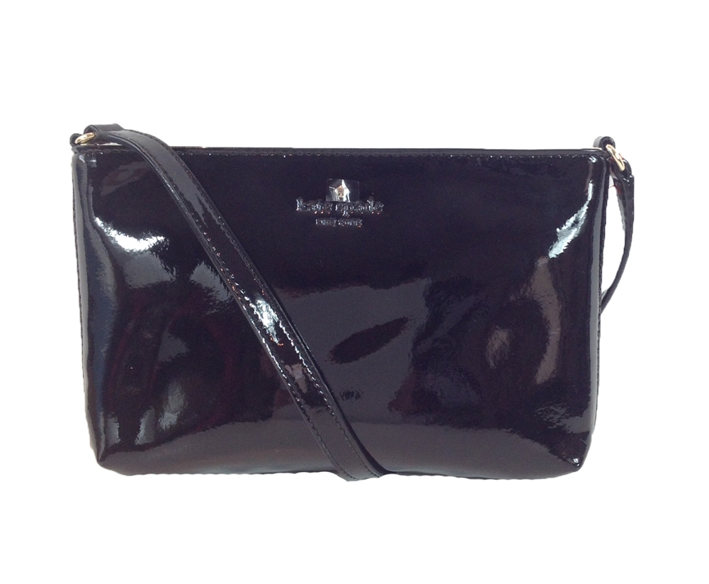 Kate Spade New York Harrison Street Tay Patent Leather Crossbody Bag Black