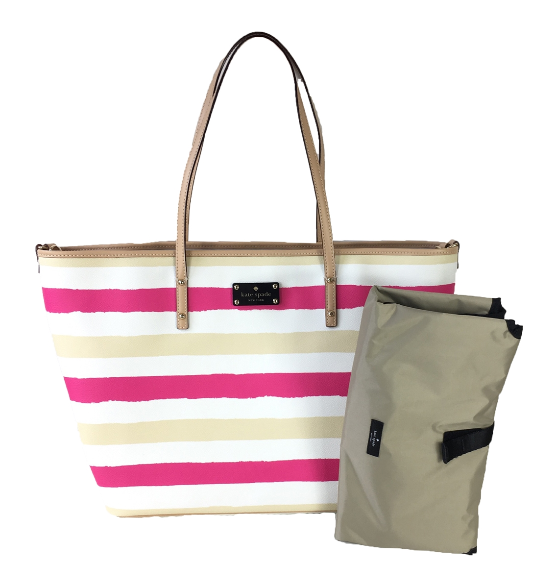 Harmony Road Bondi BagPinkcream Kate Stripes Spade Baby lFKc1J