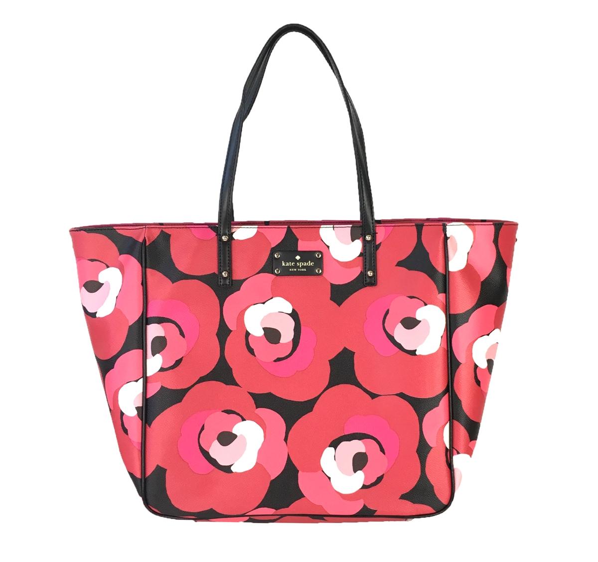 Kate Spade Ellison Avenue Sidney Tote Bag Deco Rose Orient Red