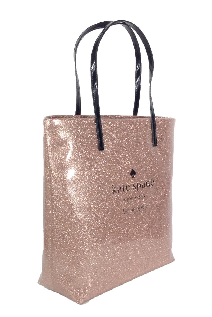 de956d493 Kate Spade Holiday Drive Bon Shopper Tote, Sparkle Rose Gold