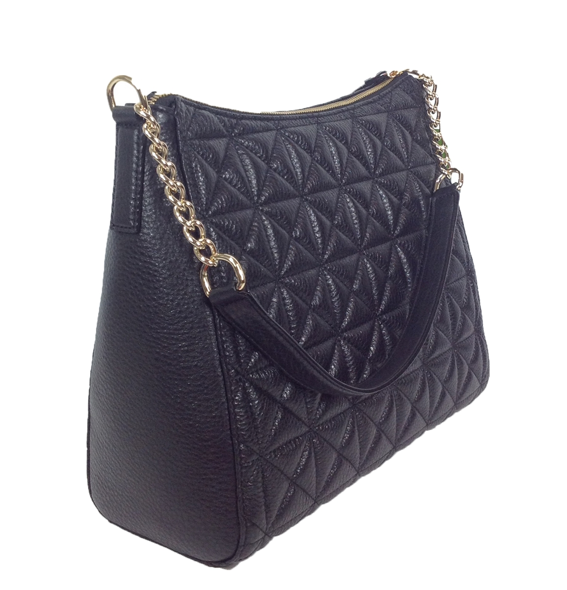 Kate Spade Whitaker Place Aurelia Quilted Leather Hobo Bag Black