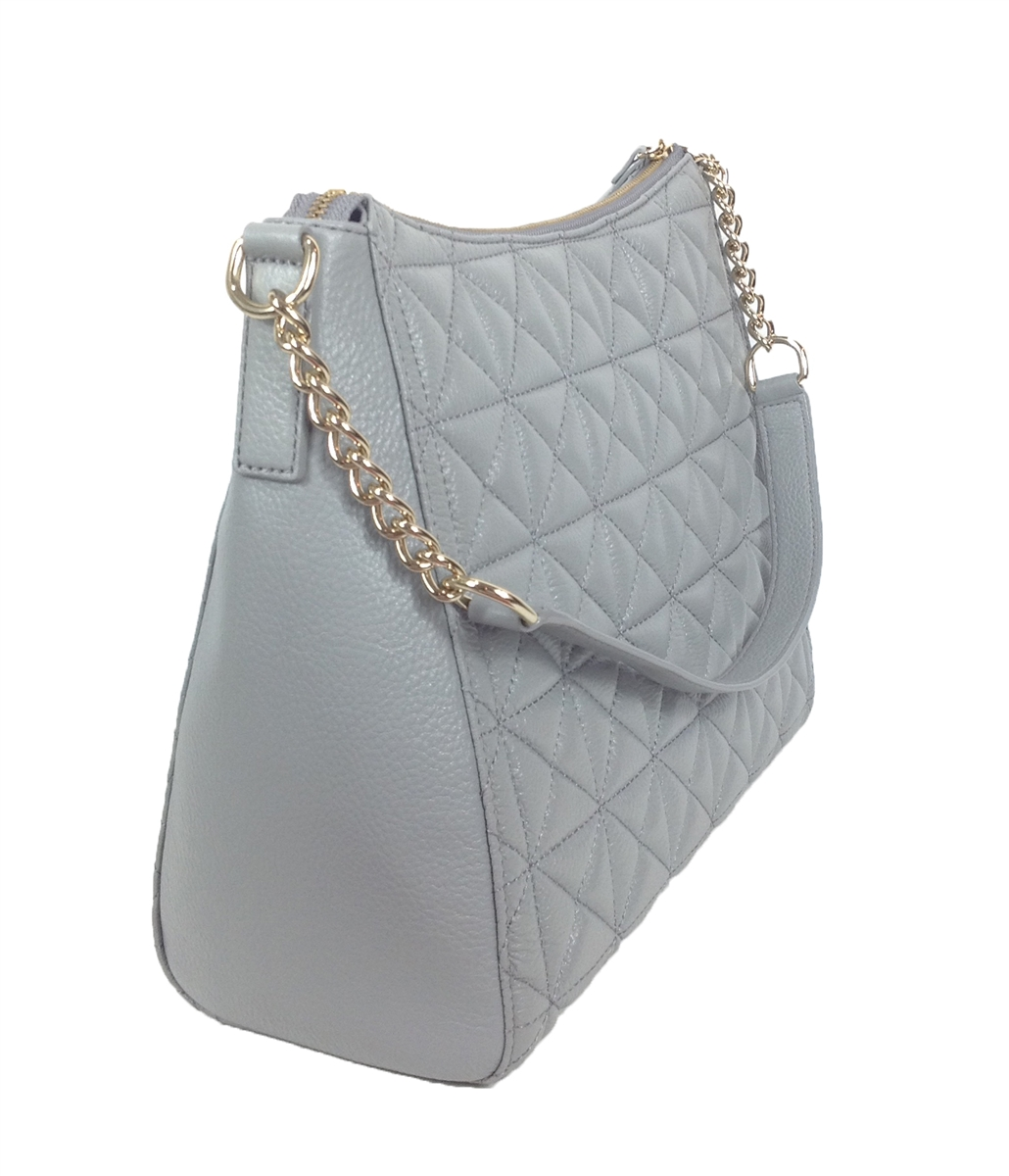 Kate Spade Whitaker Place Aurelia Quilted Leather Hobo Bag, Big ... : grey quilted bag - Adamdwight.com