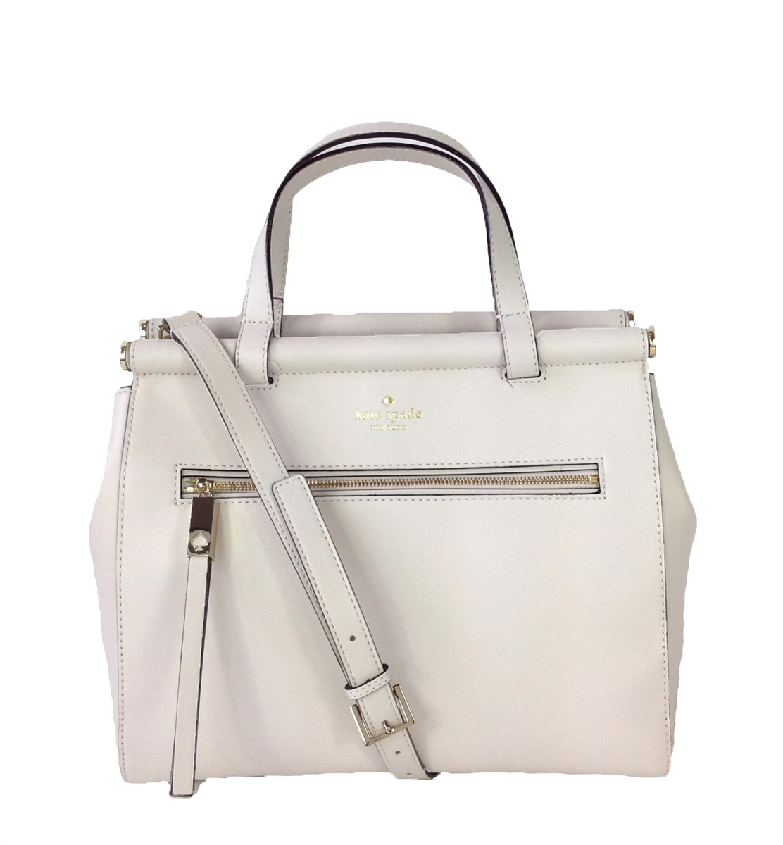 86cf27947615 Kate Spade Royal Place Cherise Leather Satchel, Horchata (Off-White)