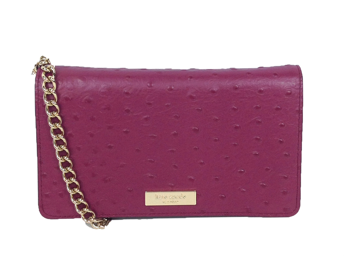 d62a831bc4dd Kate Spade Alexander Ave Ostrich Embossed Isabeli Crossbody, Red Plum