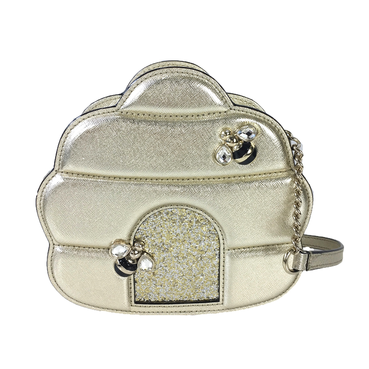 Kate Spade Beehive Leather Crossbody Bag Gold