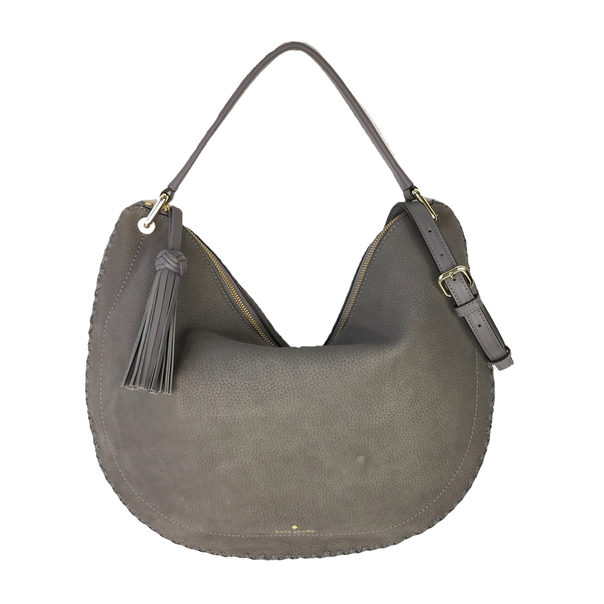 a0173b91579c1 Kate Spade Somerton Street Caryl Suede Slouchy Hobo Bag