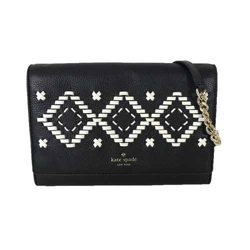 Kate Spade Flynn Street Valencia Leather Clutch Crossbody Bag
