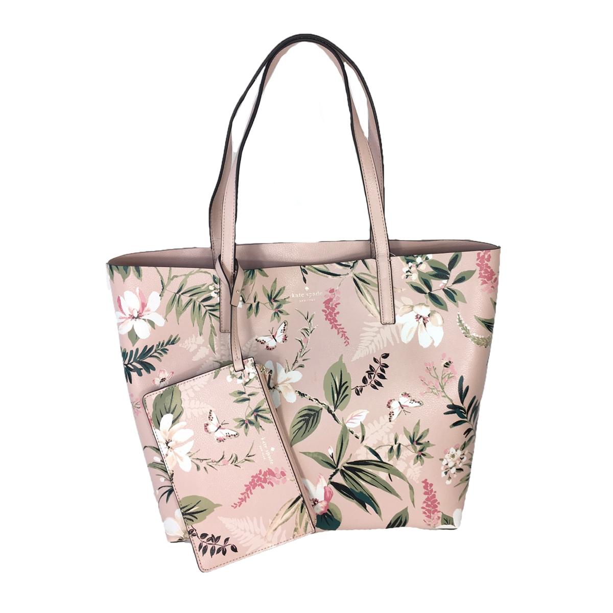 Kate Spade Mya Botanical Floral Print Reversible Tote Bag