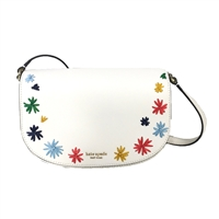 Kate Spade Raffia Flowers Reiley Leather Crossbody Bag