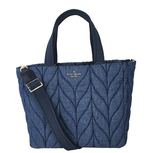 Kate Spade Ellie Quilted Denim Small Tote Bag