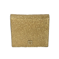 Kate Spade Mavis Street Serenade Mini Wallet Card Case, Sparkle Gold