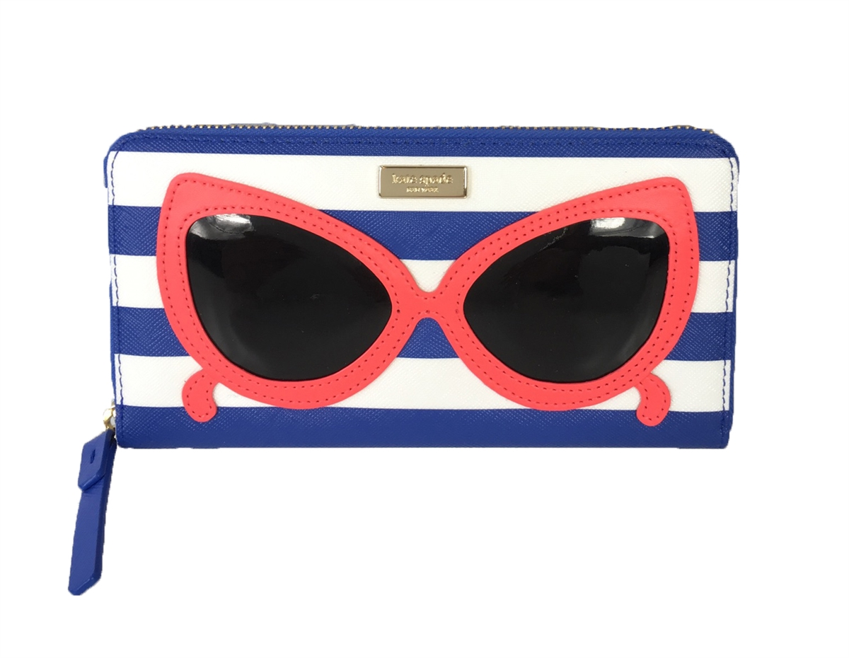 50049c18c3e17 Kate Spade Make a Splash Sunglasses Neda Zip Around Wallet