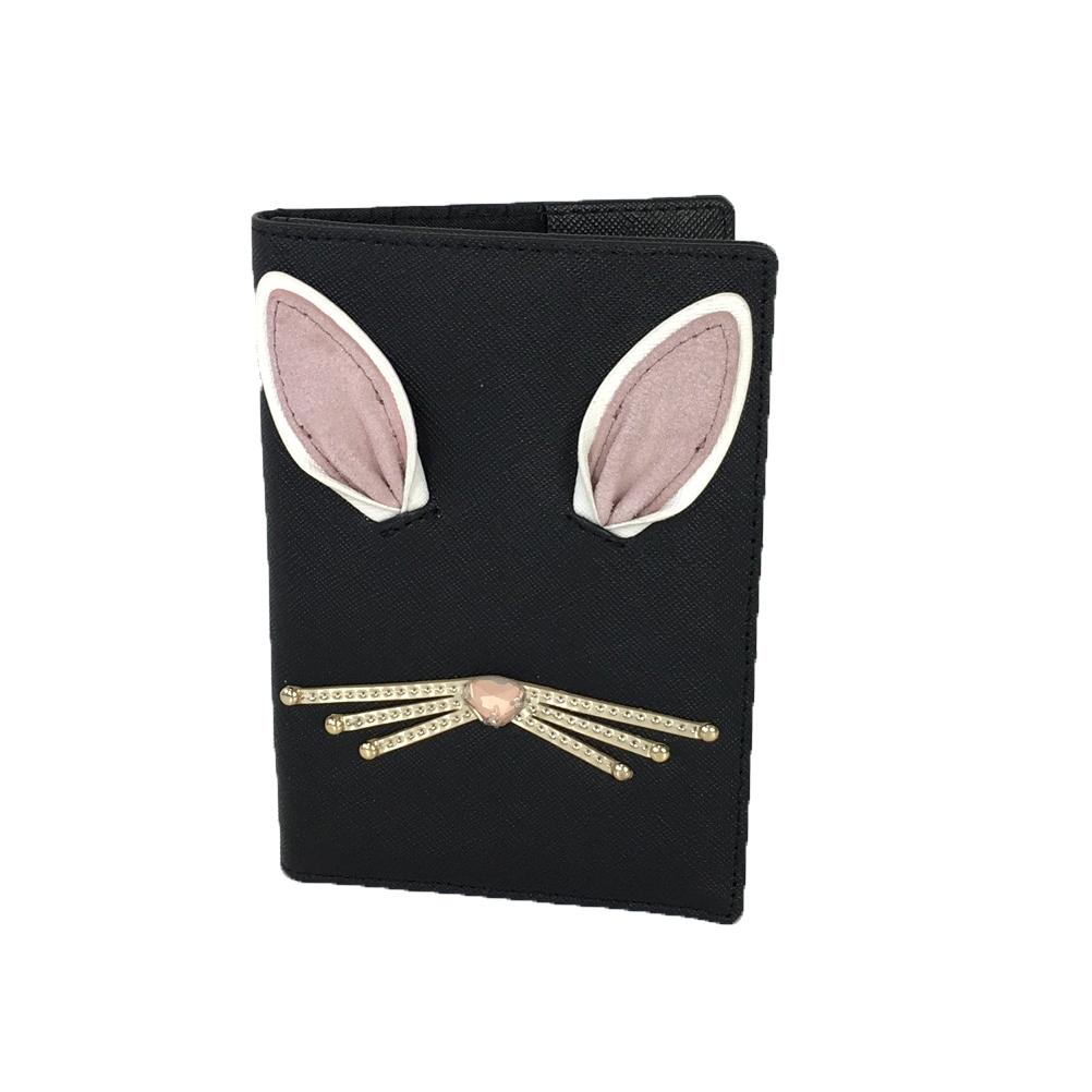 5be82cf309cf Kate Spade Hop To It Rabbit Leather Passport Holder, Black