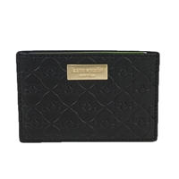 Kate Spade Embossed Spades Leather Graham Card Case