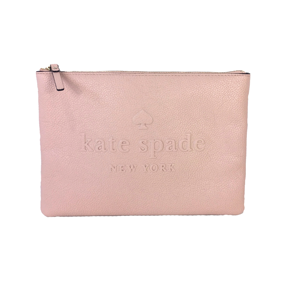 693cff0f39 Kate Spade Ash Street Leather Gia Zip Pouch Clutch