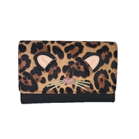 Kate Spade Run Wild Leopard Clutch Crossbody Bag
