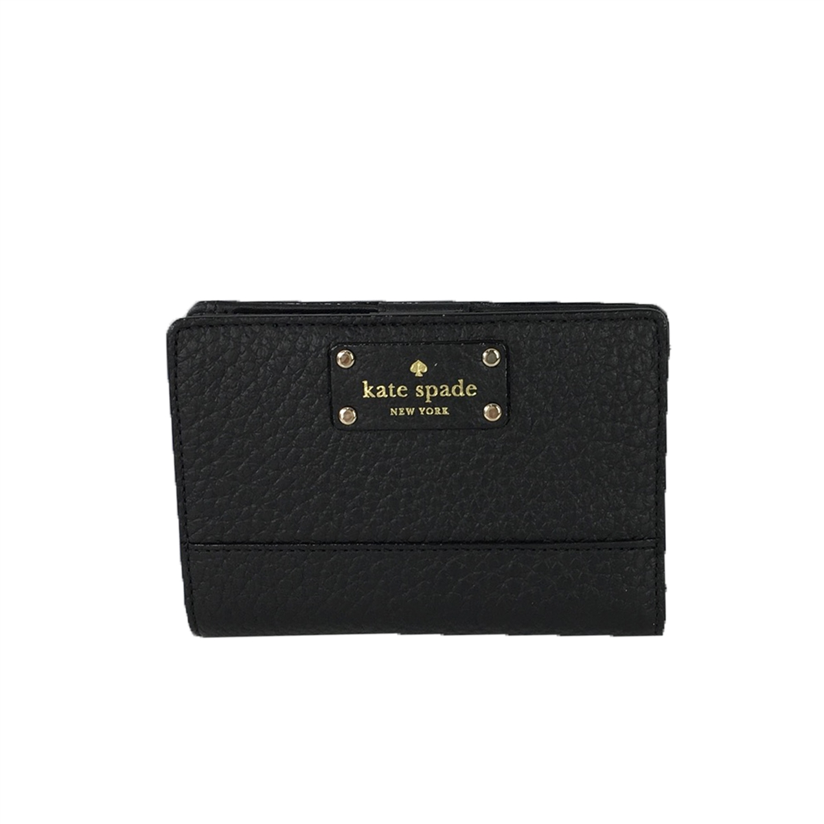 ec839a75e0c0 Kate Spade Bay Street Tellie Small Leather Bifold Wallet, Black