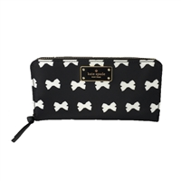 Kate Spade Wilson Road Nylon Bow Neda Zip Around Wallet