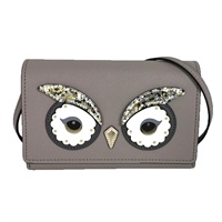 Kate Spade Owl Summer Saffiano Leather Clutch Crossbody Bag