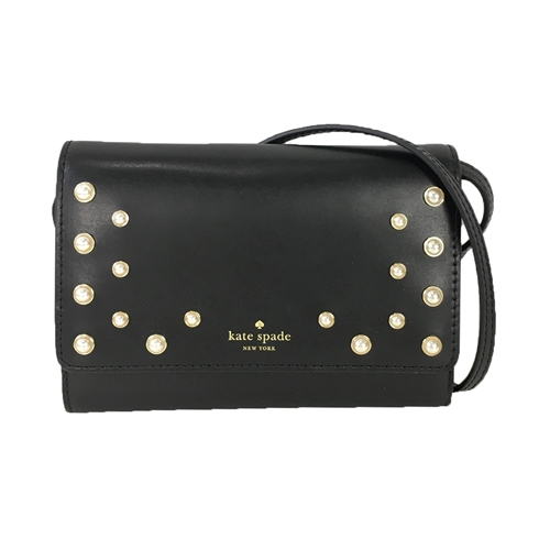 Kate Spade Pearl Summer Leather Wallet Clutch Crossbody