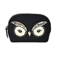 Kate Spade Owl Small Marcy Dome Travel Cosmetic Case,