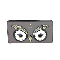 Kate Spade Owl Stacy Saffiano Leather Bifold Wallet