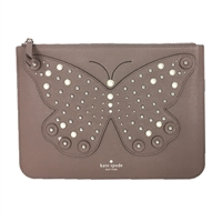 Kate Spade Pearl Embellished Butterfly Gia Clutch
