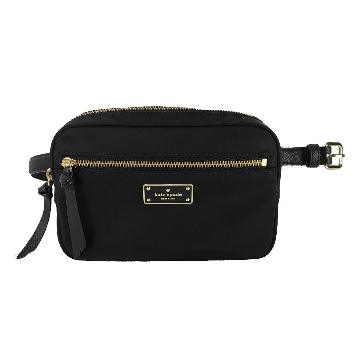 39de5b306f932 Kate Spade Sophy Nylon Waist Pack Belt Bag, Black