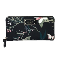 Kate Spade Botanical Nylon Neda Zip Around Wallet