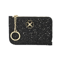 Kate Spade Odette Glitter L Zip Card Case Holder