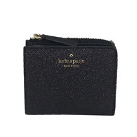Kate Spade Joeley Glitter Small Zip Bi-Fold Wallet Boxed