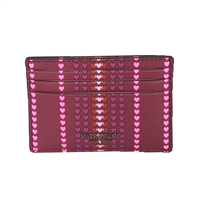 Kate Spade Cameron Heart Stripe Slim Card Case Holder