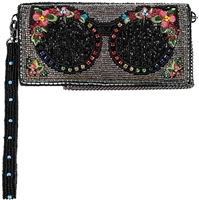 Mary Frances Shades Sunglasses Beaded Phone Wristlet Wallet Crossbody