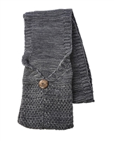 Cozy Marled Knit Pocket Scarf