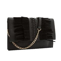 Melie Bianco Robbie Fringe Convertible Clutch