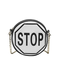 Melie Bianco 'Stop' Traffic Sign Vegan Leather Crossbody