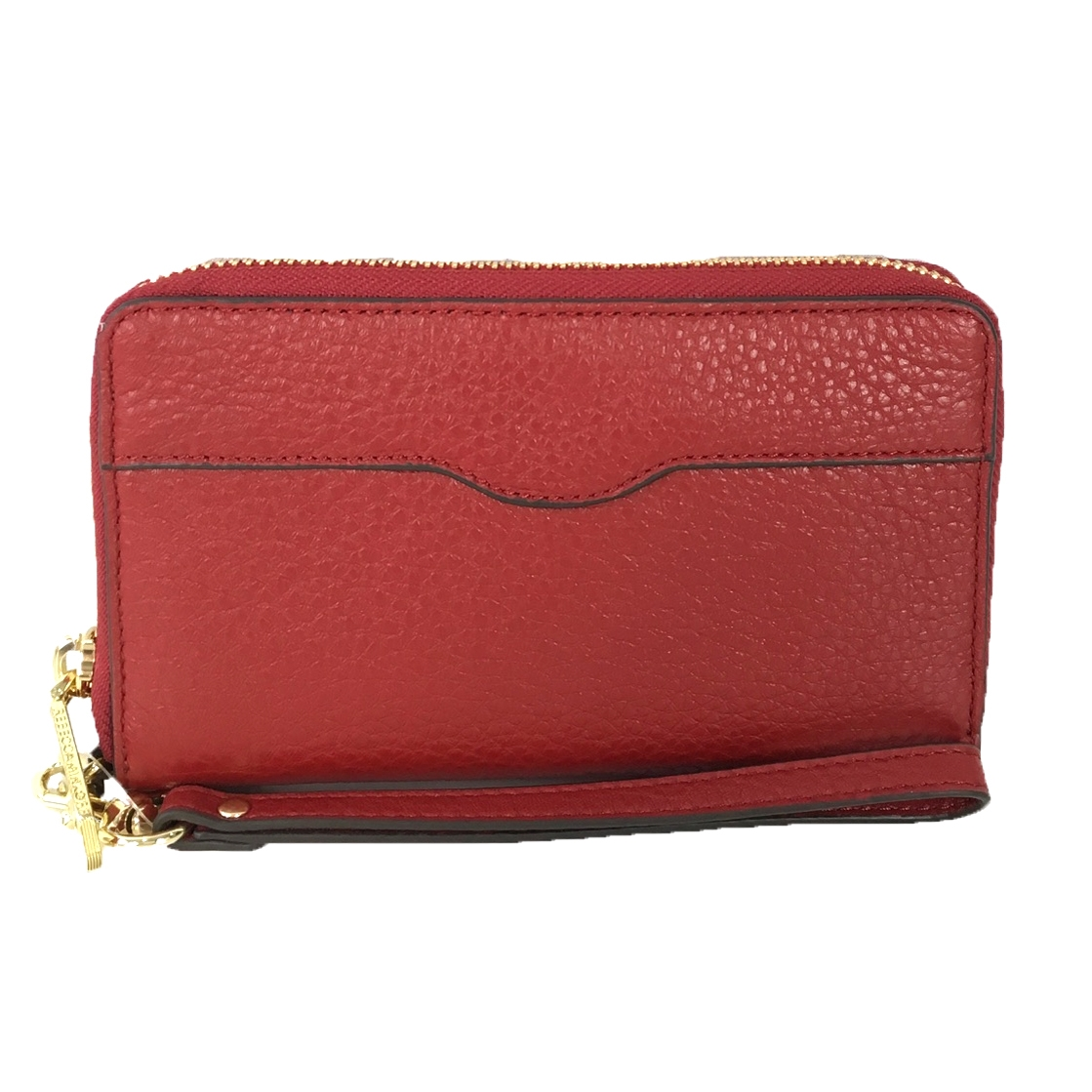 new styles 4bddf 234a0 Rebecca Minkoff MAB iPhone 8 / 7 / 6 Leather Wristlet Wallet, Deep Red