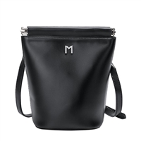 Melie Bianco Tami Vegan Leather Bucket Crossbody Bag