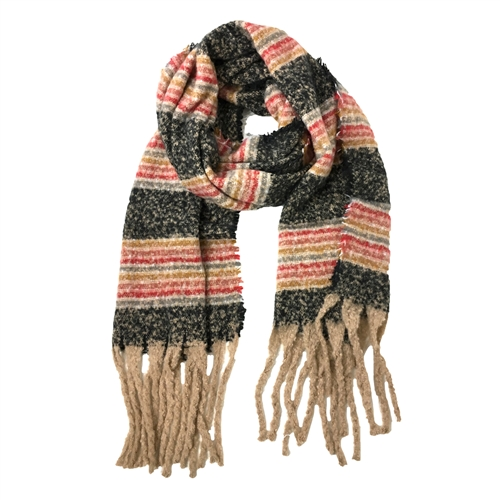 Fashion Culture Soft Multicolored Stripes Long Scarf