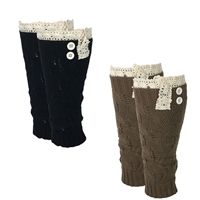 Fashion Culture Crochet Lace Trim Leg Warmers Boot Toppersrs