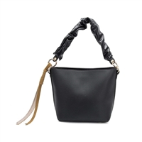 Melie Bianco Rachel Vegan Leather Bucket Crossbody Bag
