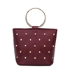Melie Bianco Makenzie Studded Vegan Leather Bracelet Crossbody Bag