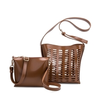 Melie Bianco Mercer Patina Gloss Hobo Bag & Crossbody