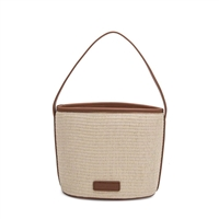 Melie Bianco Christel Natural Straw Bucket Bag