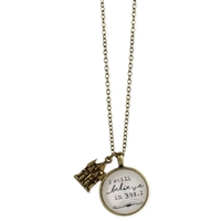 I Still Believe in 398.2 Dewey Decimal Fantasy Book Pendant Necklace