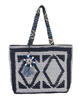 Steven By Steve Madden Zita Carpet Bag Tassel Tote
