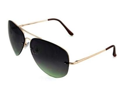 486d4b895e Fashion Culture Quin Gold Semi Rimless Aviator Sunglasses