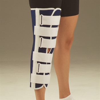 DeRoyal Sized Canvas Knee Immobilizer with T bar