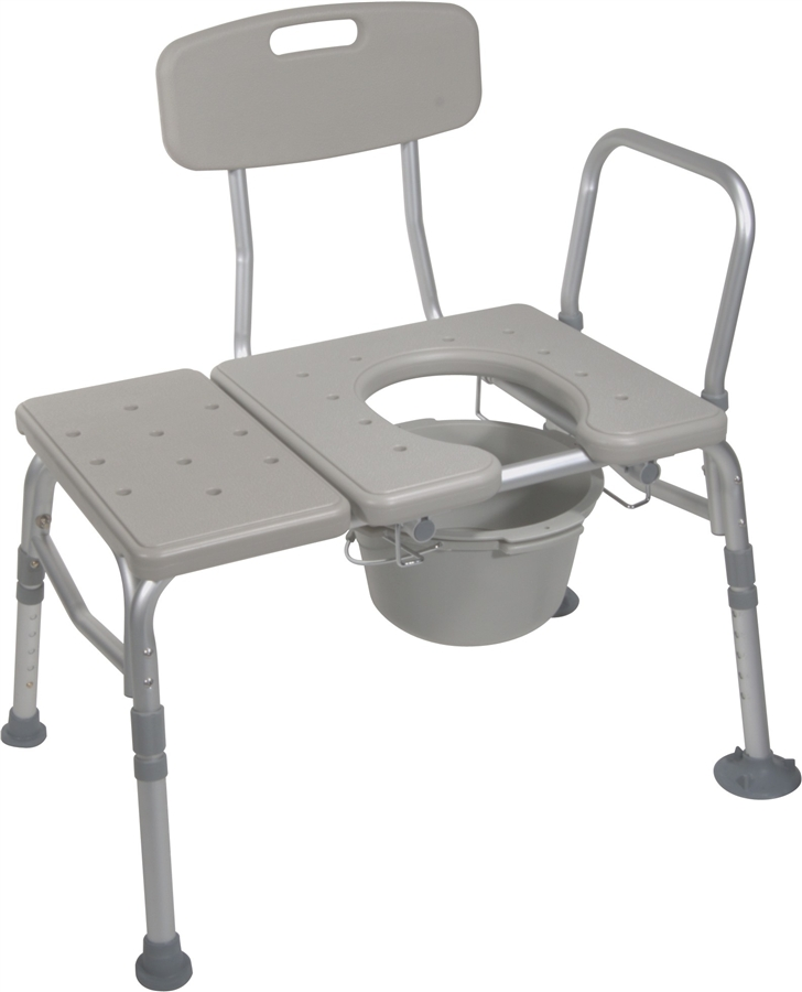 Drive Medical Combination Transfer Bench Commode, 12011KDC-1 ...